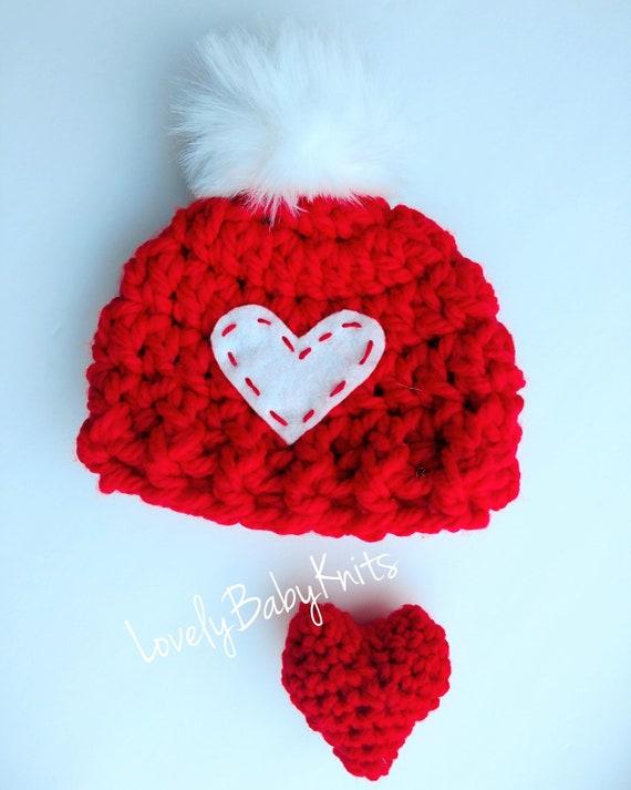 Baby Boy Girl. Fur Pom Pom hat  fur Hat Valentine Hat  697964c55f19