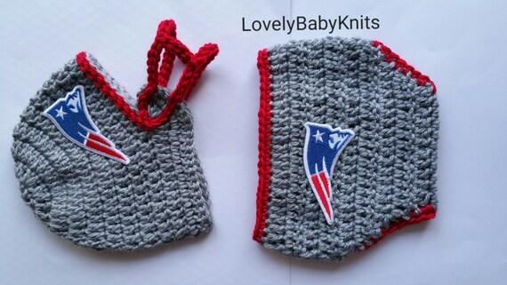 Baby Boy New England Patriots Football Helmet Crochet Baby Etsy