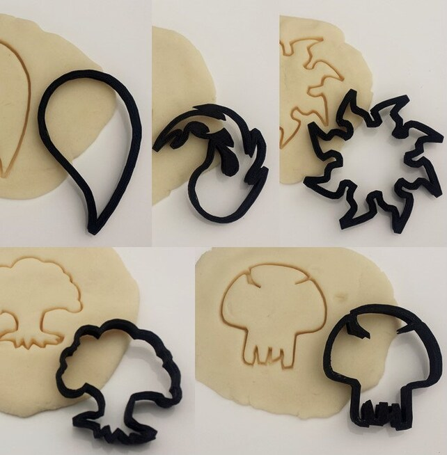 Magic The Gathering Inspired Symbols Cookie Cutter Kit Etsy