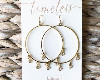 Whitney Earrings || Timeless Collection || 14k Gold Dipped Earrings