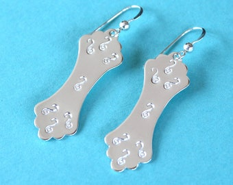 Sterling Silver Hourglass Earrings, Sterling Silver Earrings, Silver Filigree Earrings, Silver Dangle Earrings, Textured Silver Earrings