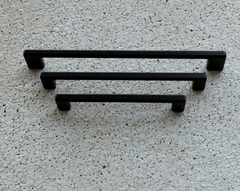 Modern Black Cabinet Pull. Black Cabinet Hardware. Contemporary Drawer Handle. Drawer Pull. Cabinet Hardware. Kitchen Cabinet Pull - 713/