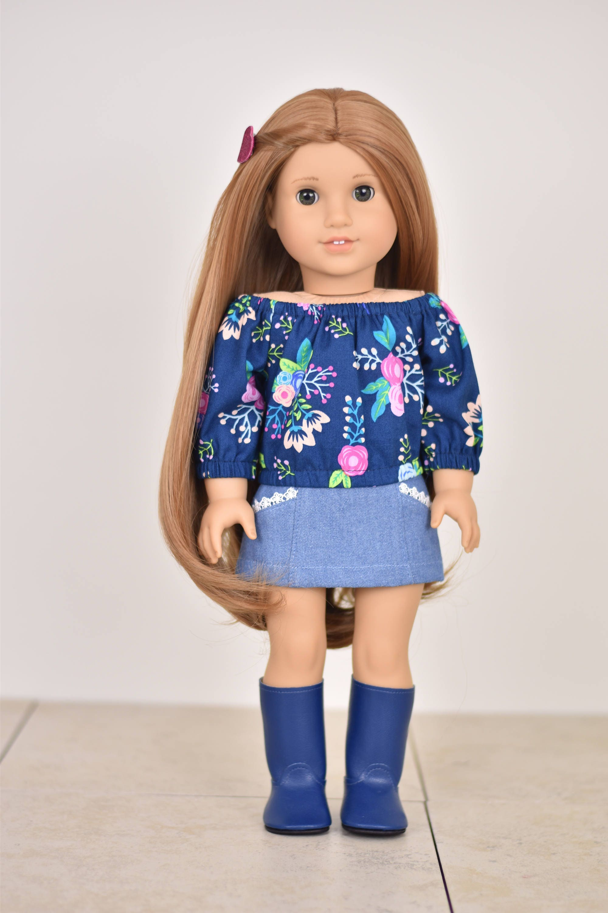 71a86010d629 Taylor Country Top Off The Shoulder Top 18 inch doll clothes EliteDollWorld  EDW