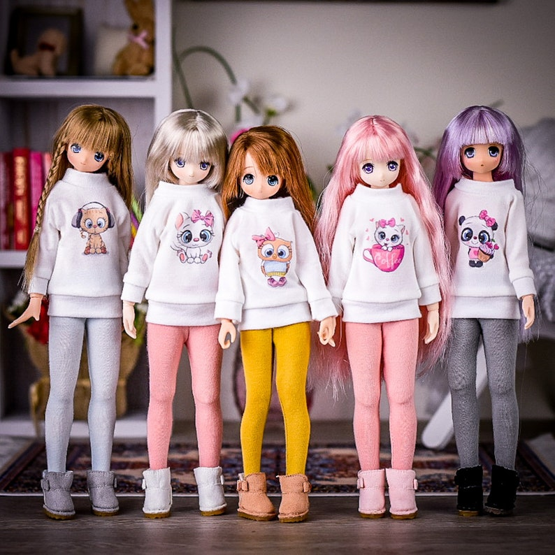 Graphic Tunic for BJD 16 scale doll like Azone Blythe 4