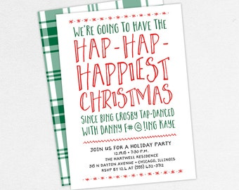 Funny christmas party invitations Etsy