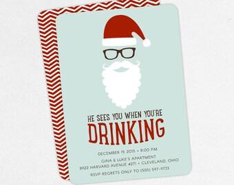 Funny christmas party invitations | Etsy