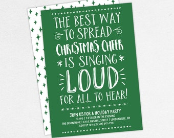 Elf Christmas Party Invitations, Adult Christmas Party Invitations, Kids Christmas Party Invitations, The Best Way to Spread Christmas Cheer