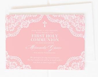 Communion Change of Date Card, Postponement Card, Communion Cancelled Card, Communion Postponement Announcement, Digital Announcement, PDF