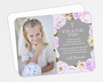 First Communion Thank You, Printable Communion Thank You, Communion Thank You PDF, Blue Communion Thank You, Printed Communion Thank You