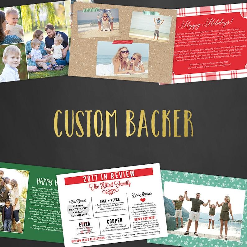 Holiday Custom Backer Design Christmas Cards Christmas Party image 0