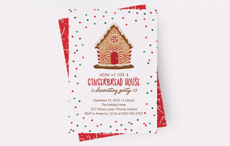 Gingerbread House Invitations Gingerbread House Decorating image 0