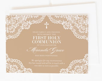 Printable Communion Postponement Announcement, Communion Cancelled Card, Communion Change of Date Card, Digital Postponement Announcement