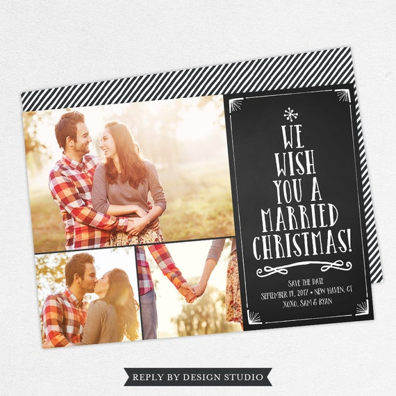 we wish you a married christmas cards christmas save the etsy
