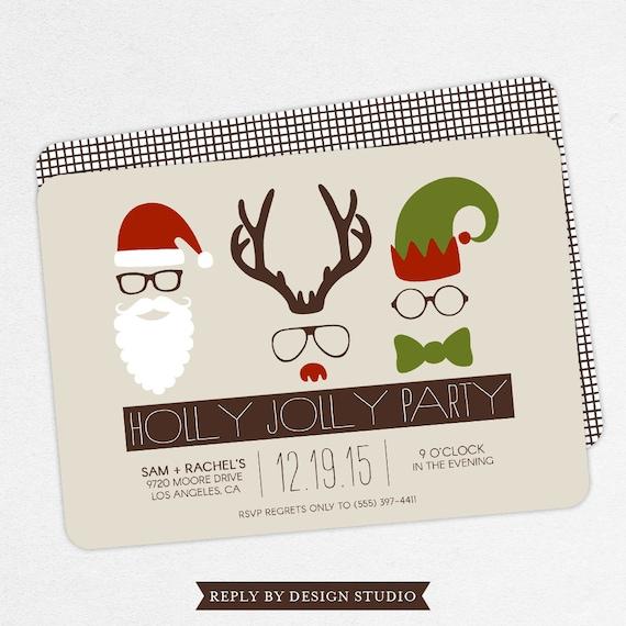 Funny Holiday Party Invitation Funny Christmas Party Etsy