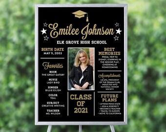 Graduation Poster, Graduation Sign, Black and Gold Graduation, Black and Gold Graduation Signs, Printable Graduation, Graduation Decorations