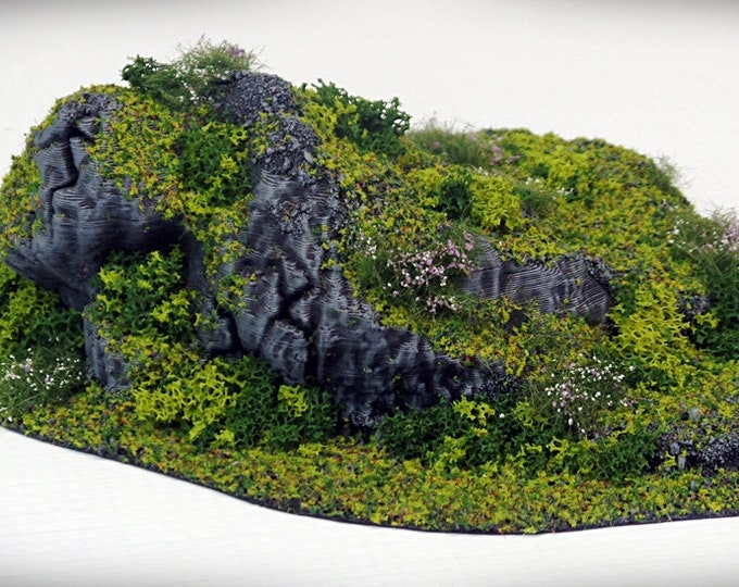 Wargame Terrain - STUB Outcropping E UNPAINTED terrain kit – Miniature Wargaming & RPG terrain