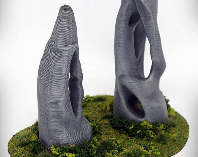 """Wargame Terrain - Standing Stone - Spike (""""Ghost Stones"""") – UNPAINTED kit - Miniature Wargaming & RPG terrain"""