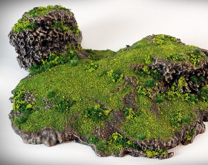 Twins Outcropping - Print your own!- DIGITAL FILE – Miniature Wargaming & RPG rock formation terrain