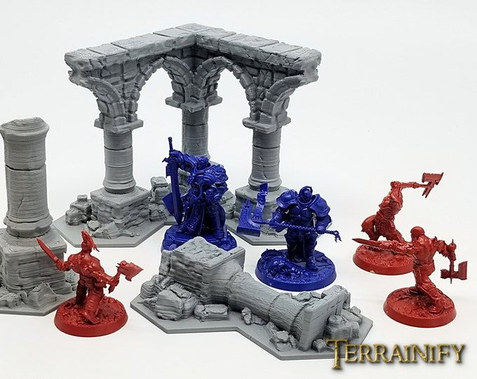 Shadespire Terrain Set – UNPAINTED kit - Miniature Wargaming & RPG terrain