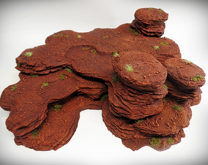 Wargame Terrain - Triple Spire B – Miniature Wargaming & RPG rock formation terrain - 15x15x5 inches