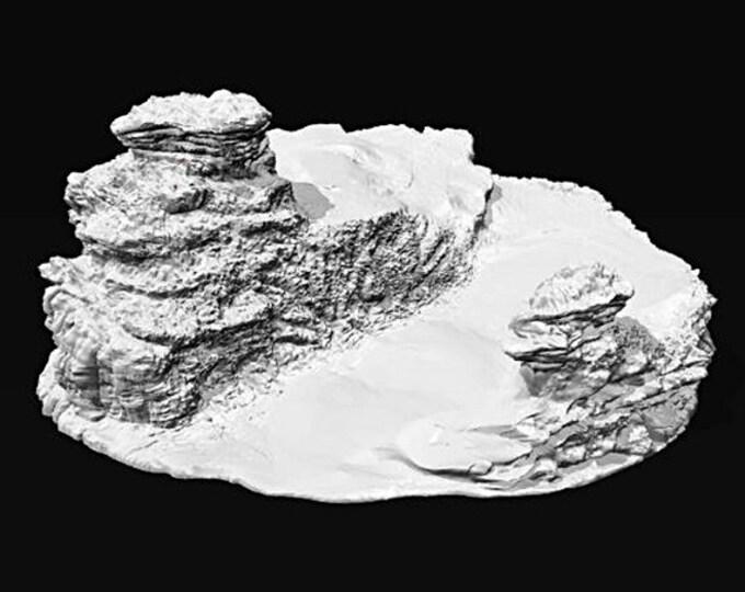 Wargame Terrain - Ramp Spiral UNPAINTED terrain kit – Miniature Wargaming & RPG dynamic hill terrain - 12.5x11.5x5