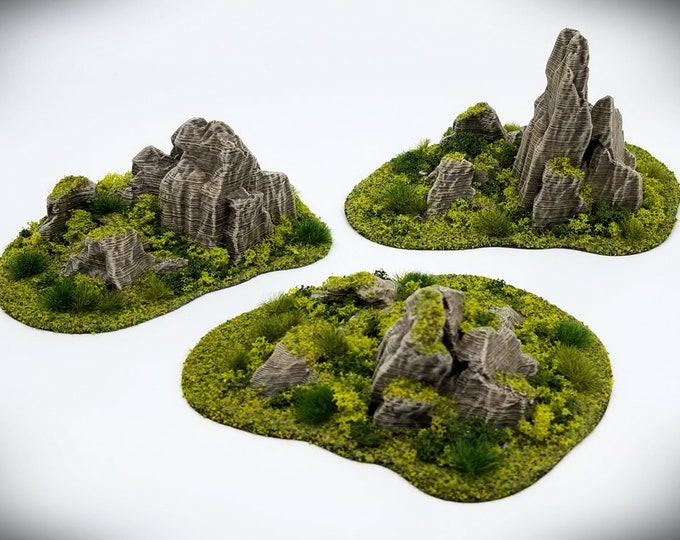 Wargame Terrain - Jutting Rock STUB Outcropping – Miniature Wargaming & RPG terrain