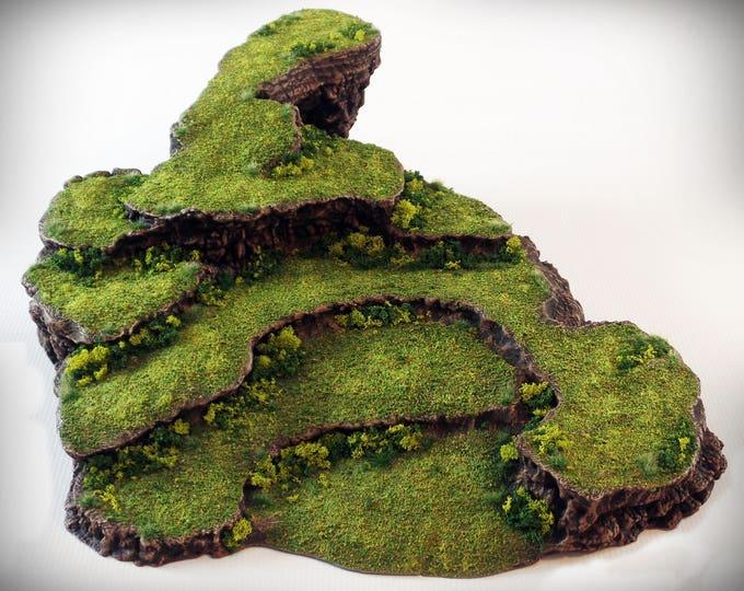 Pedestal - Print your own!- DIGITAL FILE – Miniature Wargaming & RPG rock formation terrain