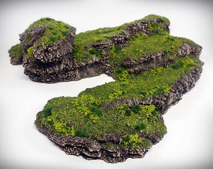 Stepped Spiral Outcropping - Print your own!- DIGITAL FILE – Miniature Wargaming & RPG rock formation terrain