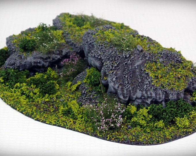 Wargame Terrain - STUB Outcropping C UNPAINTED terrain kit – Miniature Wargaming & RPG terrain