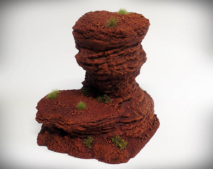 Wargame Terrain - Single Spire D – UNPAINTED kit - Miniature Wargaming & RPG rock formation terrain