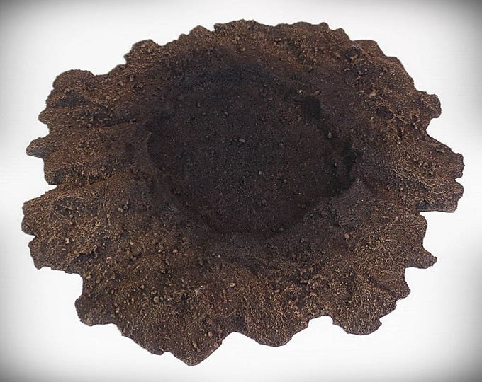 Wargame Terrain - Single Crater A (large)– UNPAINTED KIT - Miniature Wargaming & RPG blast crater terrain
