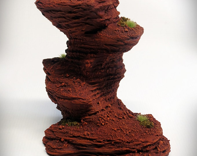 Single Spire C – Print your own! - DIGITAL FILE - Miniature Wargaming & RPG rock formation terrain