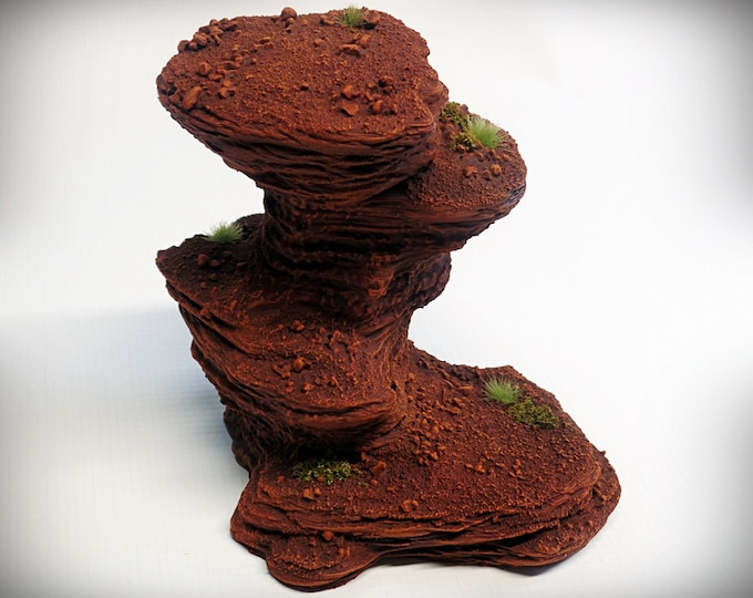 Wargame Terrain - Single Spire C – Miniature Wargaming & RPG rock formation terrain - 5 inches (large)/4 inches (small) tall