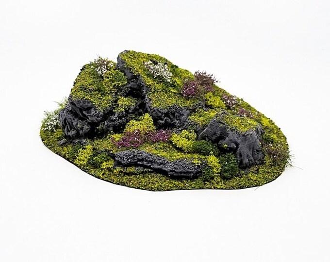 Wargame Terrain - STUB Outcropping F UNPAINTED terrain kit – Miniature Wargaming & RPG terrain