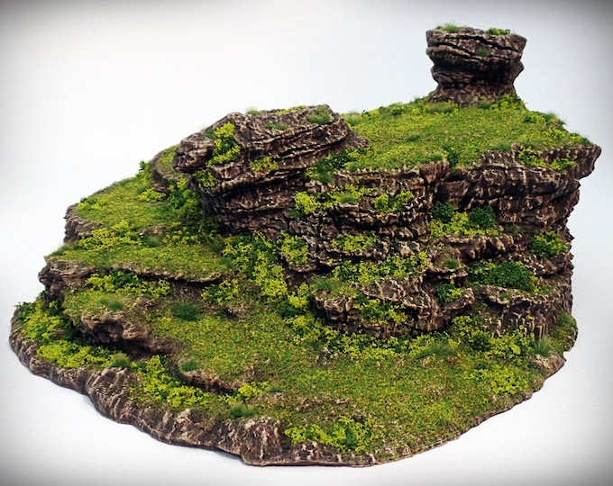 Stepped Spiral - Print your own!- DIGITAL FILE – Miniature Wargaming & RPG rock formation terrain