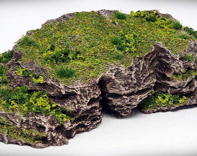 Flat Top - Print your own!- DIGITAL FILE – Miniature Wargaming & RPG rock formation terrain