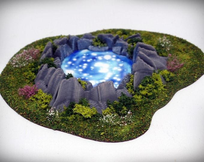 Wargame Terrain - Chaos Portal/Mystic Pool – Miniature Wargaming & RPG scenery/terrain - 6.25x5x0.75 inches