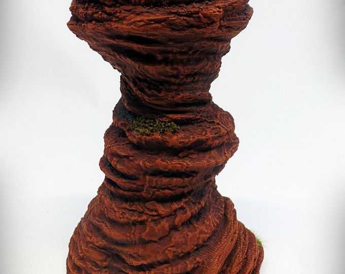 Single Spire B – Print your own! - DIGITAL FILE - Miniature Wargaming & RPG rock formation terrain