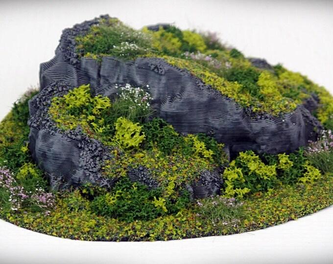 Wargame Terrain - STUB Outcropping A (DIGITAL FILE) – Miniature Wargaming & rpg terrain