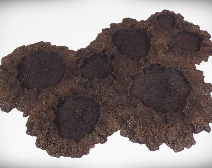 Wargame Terrain - Multi Crater A – Miniature Wargaming & RPG blast crater terrain