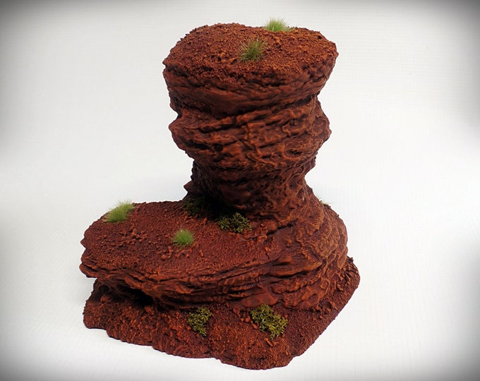 Single Spire D – Print your own! - DIGITAL FILE - Miniature Wargaming & RPG rock formation terrain