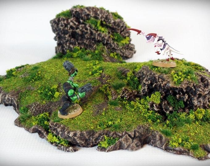 Wargame Terrain - Twins - Outcropping – Miniature Wargaming & RPG outcropping terrain - 11x11x3 inches