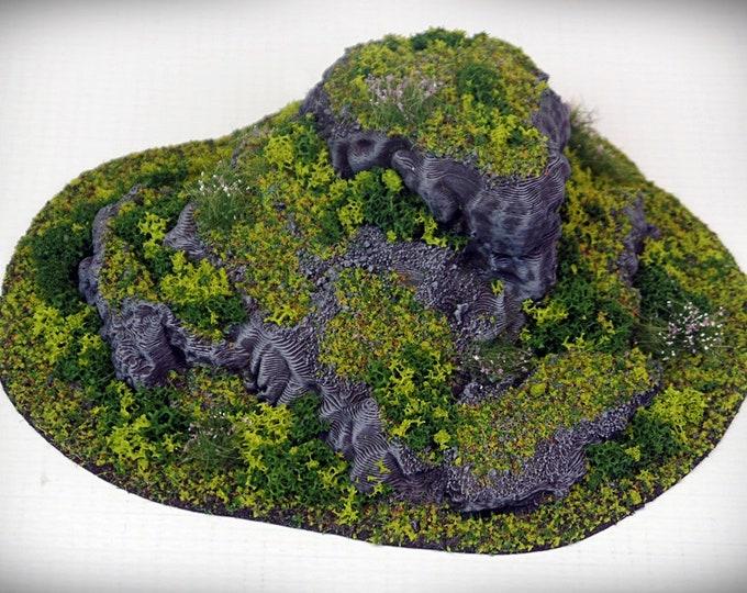 Wargame Terrain - STUB Outcropping D UNPAINTED terrain kit – Miniature Wargaming & RPG terrain