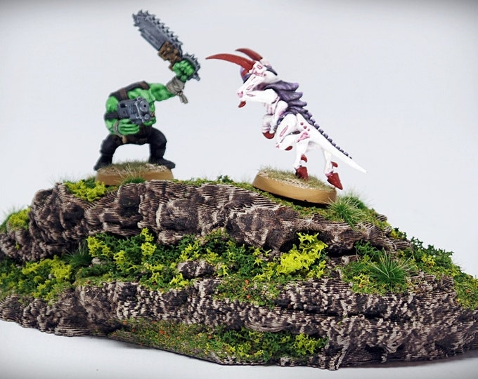 Wargame Terrain - Flat Top - Wargaming & RPG rock formation terrain - 6.5x3x1.5 inches