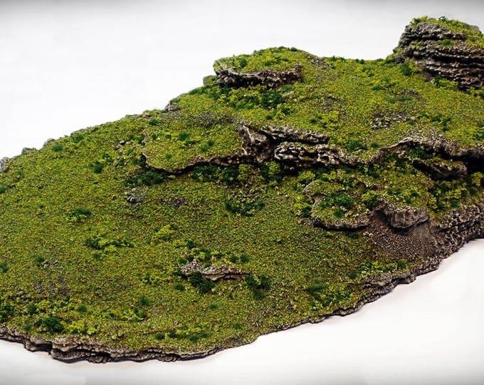 Wargame Terrain - Twins – Miniature Wargaming & RPG dynamic hill terrain - 21x11x4.5 inches