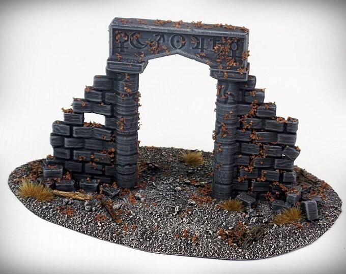 Wargame Terrain - Ruined Arcane Archway