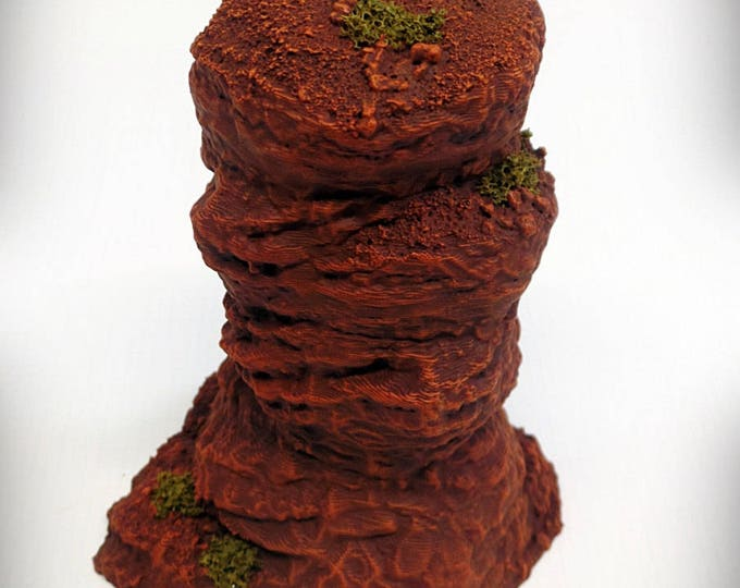Single Spire A – Print your own! - DIGITAL FILE - Miniature Wargaming & RPG rock formation terrain