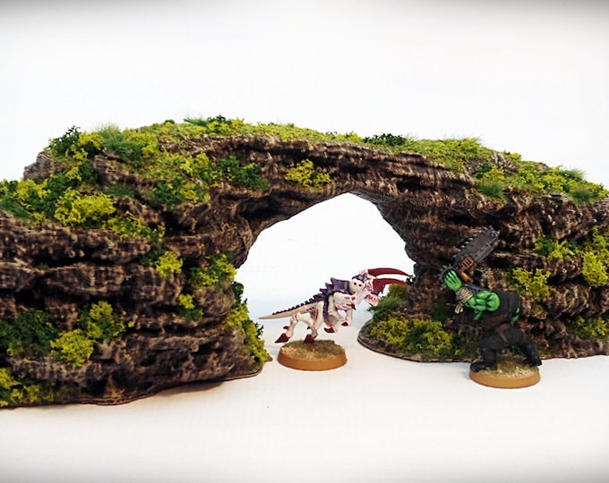 Wargame Terrain - Archie – Miniature Wargaming & RPG rock formation terrain - 11.5x3.5x3 inches