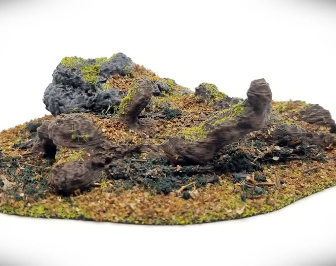 Wargame Terrain - Fallen Tree Outcropping A (DIGITAL FILE) – Miniature Wargaming & RPG terrain
