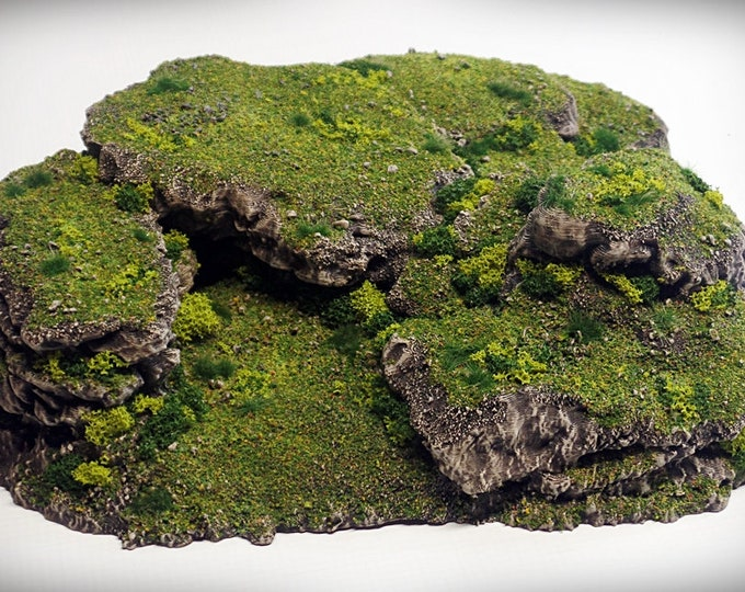 Wargame Terrain - Stacks UNPAINTED terrain kit – Miniature Wargaming & RPG rock formation terrain 10x9.5x3.5 inches